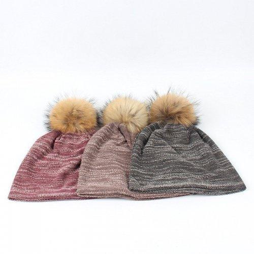 Wholesale Knit Hat With Fur pompom