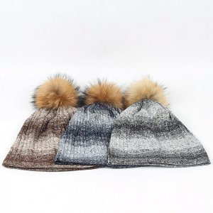 Wholesale Beanie Hat With Fur pompom