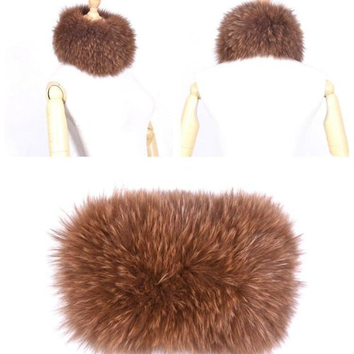 Elastic Fox Fur Headbands