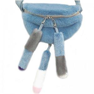 mink fur fanny pack