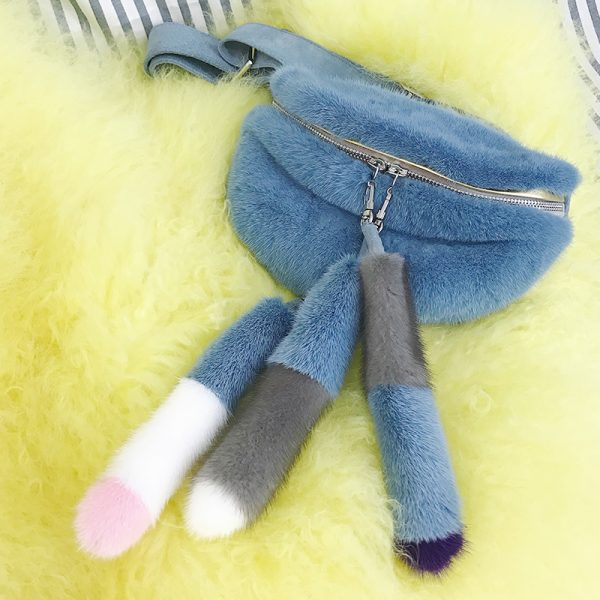 Mink Fur waist bag