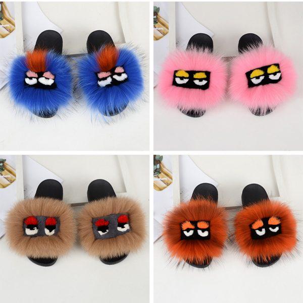 Fur slides wholesale by hlfurs.com
