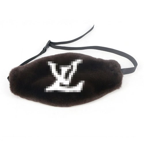 Rex Rabbit fur Fanny Packs with logo
