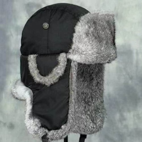 Rabbit Ear Flap Hat Ushanka Hat HL20C031-B
