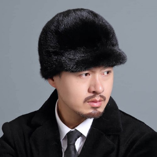 Real Mink Fur Hat Baseball Cap HL20C032-B