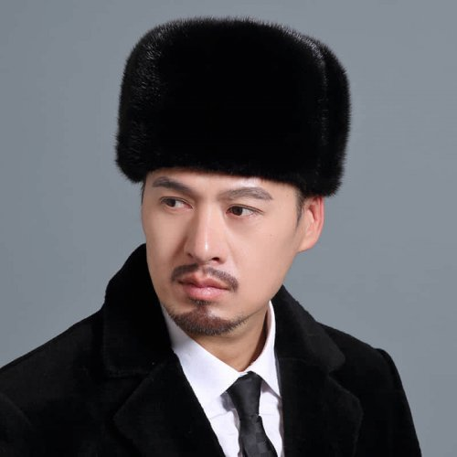 Traditional Real Mink Fur Hat Wholesale for Men HL20C033-A1