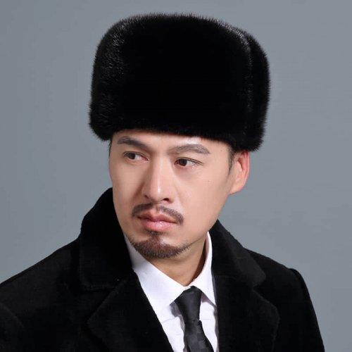 Traditional Real Mink Fur Hat Wholesale for Men HL20C033-A1