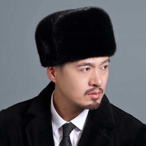 Traditional Real Mink Fur Hat Wholesale for Men HL20C033-A2