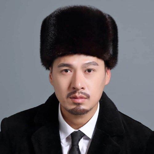 Traditional Real Mink Fur Hat Wholesale for Men HL20C033-B1