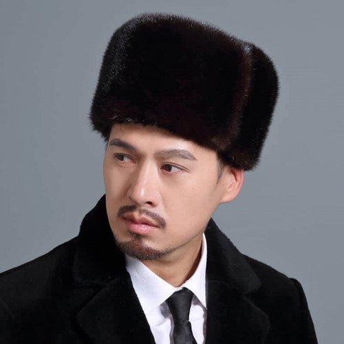 Traditional Real Mink Fur Hat Wholesale for Men HL20C033-B2