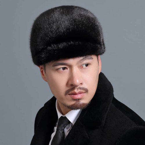Men's Real Mink Fur Hat Wholesale HL20C034-A1
