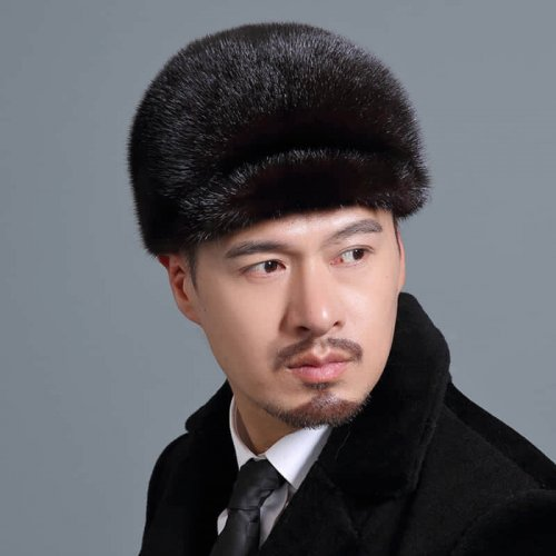 Men's Real Mink Fur Hat Wholesale HL20C034-B1