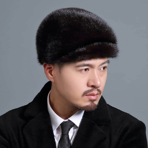 Men's Real Mink Fur Hat Wholesale HL20C034-B2