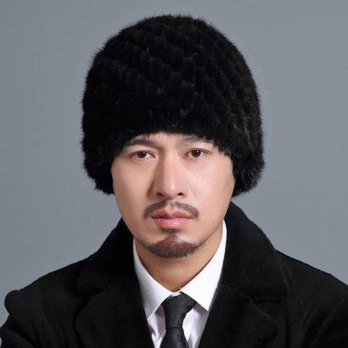 Mink Knitted Hat for Men HL20C035-A1