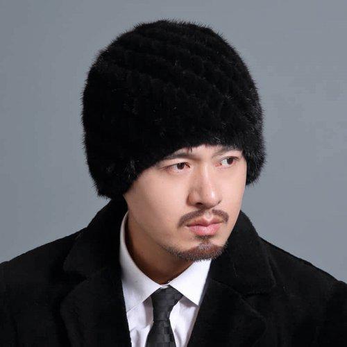 Mink Knitted Hat for Men HL20C035-A2