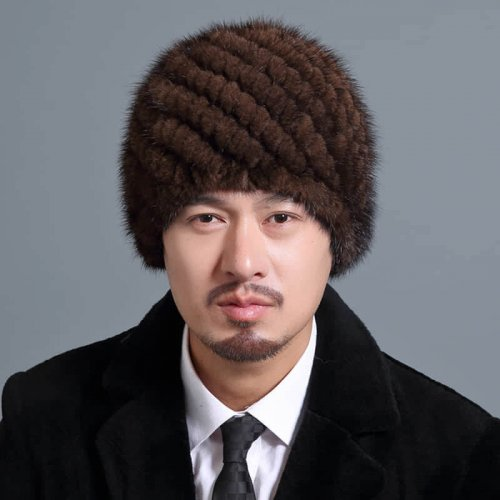 Mink Knitted Hat for Men HL20C035-B1