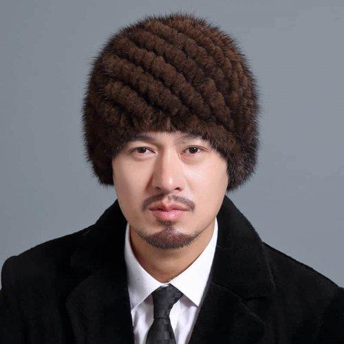 Mink Knitted Hat for Men HL20C035-B1