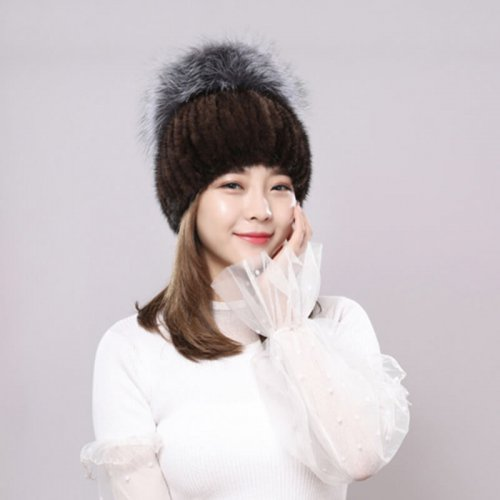Wholesale Mink Fur Hat for Boutiques HL20C036-B