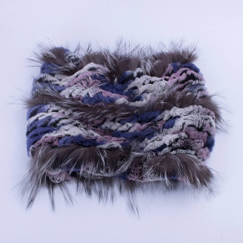 Rex rabbit fur scarf womens fox trim HL20W001-C