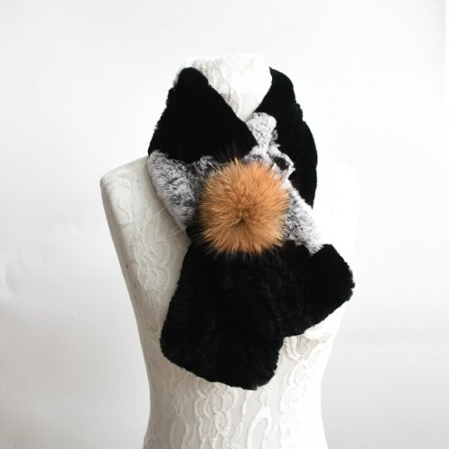 rex rabbit fur scarf HL20W008-A