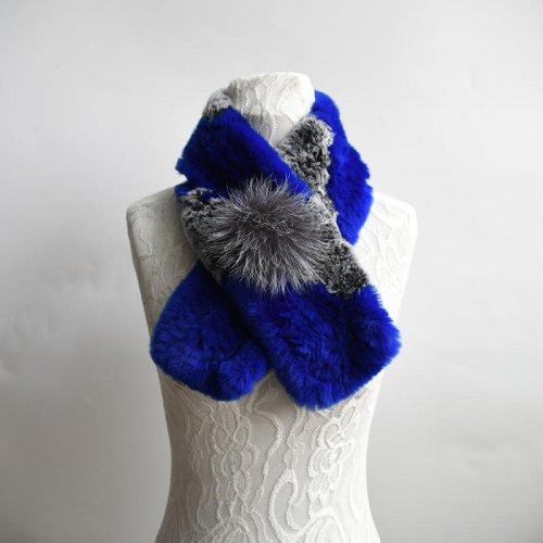 rex rabbit fur scarf HL20W008-B