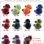 raccoon fur slides colors from hlfurs.com